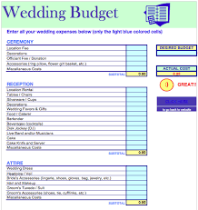 Free Wedding Budget Template