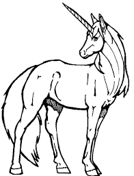 Unicorn Images Coloring Color Pages A Realistic Drawing Of
