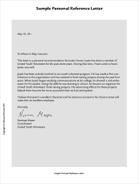Personal Character Recommendation Letter Template Good Reference For