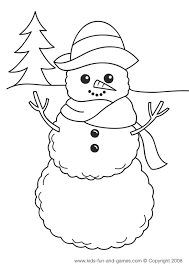 Xmas And Winter Coloring Pages At Kidsgamescentral