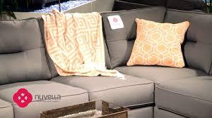 Ashley Hodan Microfiber Sofa Chaise by Nuvella Story Youtube
