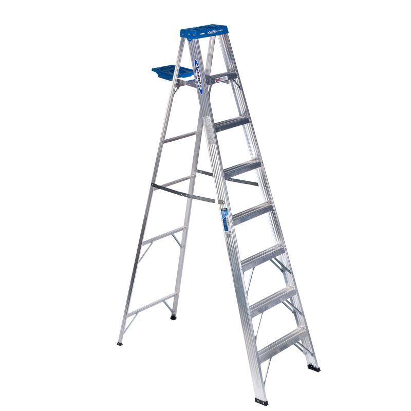 Werner Step Ladder - Aluminum, 8', 250lbs Load Capacity