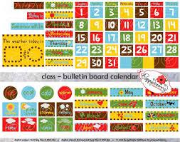 Class Bulletin Board Calendar Clipart SET 300 Dpi School