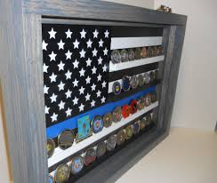 Thin Blue Line Coin Case Challenge Display Police
