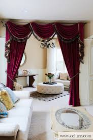 flip pole swag valance curtains traditional living room