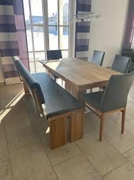 esszimmer echtholz tisch 4 stühle bank