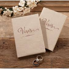 Rustic Wedding Ceremony Vows Books Set Of 2