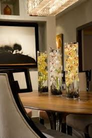 Dining Room Table Decorating Ideas by Lovely Table Center Piece Add A Mirror For Elegance And Crystal