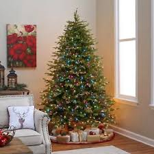 Pre Lit Multicolor Christmas Tree Sale by New Pre Lit Christmas Tree 6 7ft Steel Base Multicolor Led Lights