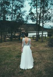 Beautiful DIY Rustic NSW Wedding Lace And Flowing Gown Pretty Flowers In Her Hair