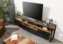 tv board altholz 238x43x70 mehrfarbig lackiert industrial 107