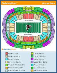 Ga Dome Seating Chart Falcons