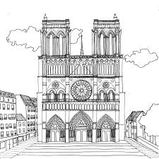 Notre Dame De Paris Par Chocobo Draw Paris Landmarks Colour