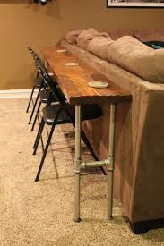 Narrow Sofa Table Diy by Bar Height Table Diy Counter Coffee For Extra Long Couch Narrow