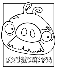 Print And Coloring Page Angry Birds PIG For Kids