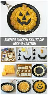 Puking Pumpkin Cheese Dip by Skillet Buffalo Chicken Dip Jack O Lantern