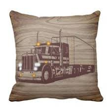 Rustic Wood Texture Trucker Throw Pillow