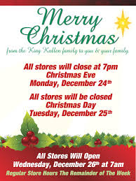 Grocery Store Hours On Christmas Eve Christmas Day