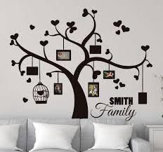 wandtattoo schlafzimmer familienfotos