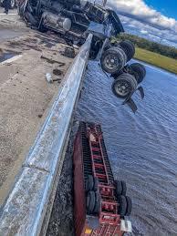 Crash Leaves Semi Truck Dangling Off Dames Point Bridge