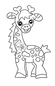 Baby Giraffe Animal Coloring Page For Kids Pages Printables Free