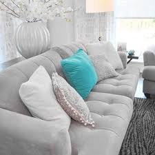 grey turquoise sofa living room polyvore