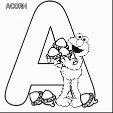 Terrific Sesame Street Alphabet Letter Coloring Page With Elmo Pages And Colouring Printable