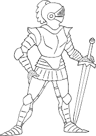 Elegant Knight Coloring Pages 95 For Your Print With