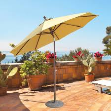 9 Ft Patio Umbrella Frame by Galtech 9 Ft Aluminum Patio Umbrella With Crank Lift And Deluxe