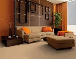 impressive living room color orange furniture schemes paint