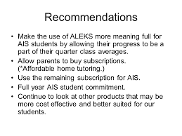 What Is ALEKS Who Uses How Being Used Teacher