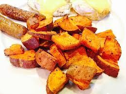 Baked Sweet Potato Paleo Home Fries Recipe