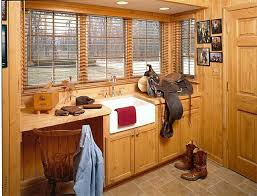 Rustic Mudroom Laundry Room