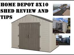 Home Depot Storage Sheds by Home Depot 8x10 Shed Review And Build Tips Keter Vinyl Plastic