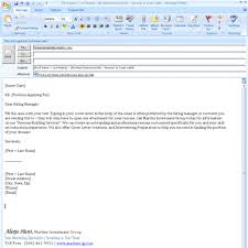 Cover Letter Email Format Sample For Sending Resume Emailing Job