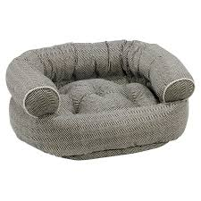 bowsers diamond series microvelvet double donut dog bed hayneedle
