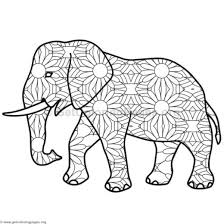 Elephant Coloring Pages 10