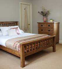 Beautiful Bedroom Ideas Oak Furniture Solid Rustic Double Bed