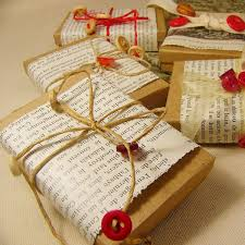 Some Brown Paper Book Pages Twine And Red Buttons Make