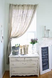 burlap curtains in Dining Room Shabby chic with Bar Counter Design