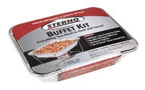Sterno Candle Lamp Butane Stove by Amazon Com Sterno Full Size Buffet Kit Kitchen U0026 Dining