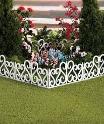 Decorative Garden Fence Home Depot by Easy Gardener 1 Ft X 10 In Plastic Adirondack Decorative Border