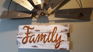 Family Word Signs Metal Farmhouse Decor Rustic Fixer Upper Style Shabby Chic Entry Way Sign Country