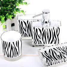 Leopard Print Bathroom Set Uk by Zebra Print Bathroom Setszebra Decorative Towel Set Zebra Print