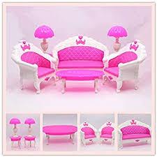 eprhy puppenhausmöbel wohnzimmer sofa set für zubehör langes sofa stühle vintage schreibtischle tisch für puppenhaus figuren 6