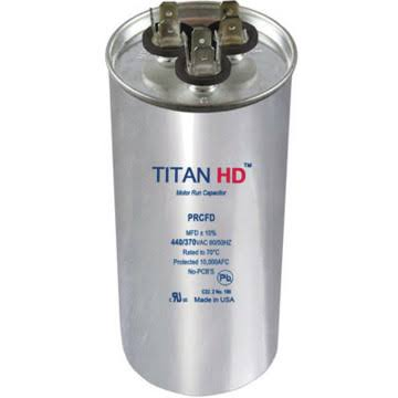Packard Prcfd505 Round Run Capacitor - Titan HD 440V, 50 5 MFD