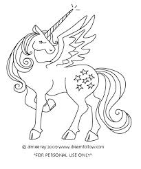Unicorn Pictures To Color With Wings Coloring Pages Page