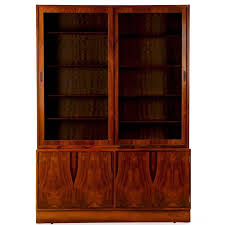 Danish Mid Century Modern Rosewood Bookcase Display Cabinet Poul Hundevad For Sale