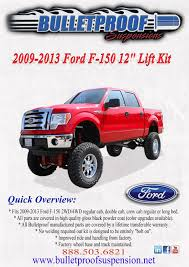 Bulletproof Suspension Lift Kit 2009-2013 Ford F-150 12''   Ford ... Lift Kit Installation Archives Truck Accsories Featuring Line Unloading Motorcycle On Ramped Up Pro Powered Lift Ezylift 2000 Pound Lifting Capacity Vehicles Pinterest Parts For Toyota Tacoma Trucks Avid Bed Rail System Avid Products Armor New Gets Linex Bed And Awesome Custom Install Mikes Ae Technologies Inc Ravagoli 600 Series Scissors Hauling In Pictures Pickup Loaders Bmw Luxury Touring Community Carrier