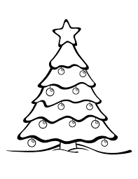 Gorgeous Christmas Tree On Winter Season Coloring Page